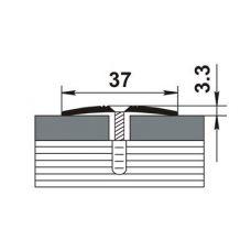 Стыкоперекрывающий алюминиевый профиль ПС-03 900 мм.