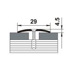Стыкоперекрывающий алюминиевый профиль ПС-04-1 900 мм.